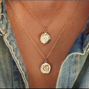 Jewelry - NEW! Gold Sun Moon and Stars Gold Layered Necklace